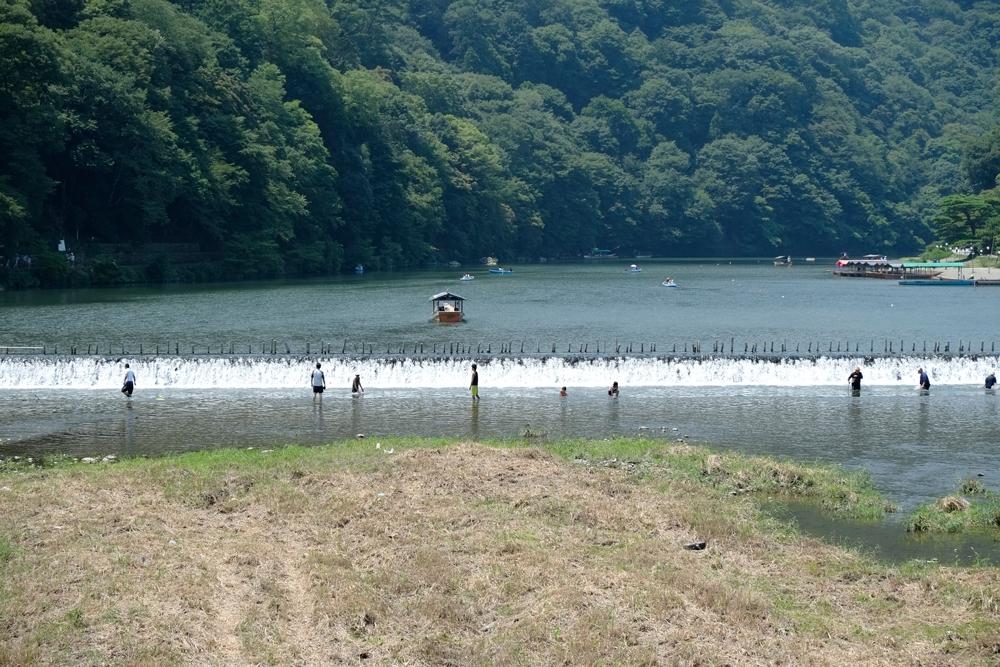 京都嵐山清滝川で川遊び2013.08....