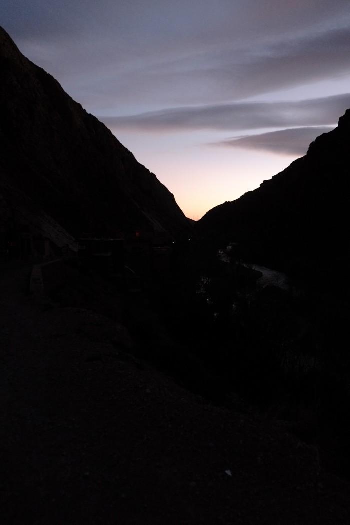 ダデス渓谷夕焼け