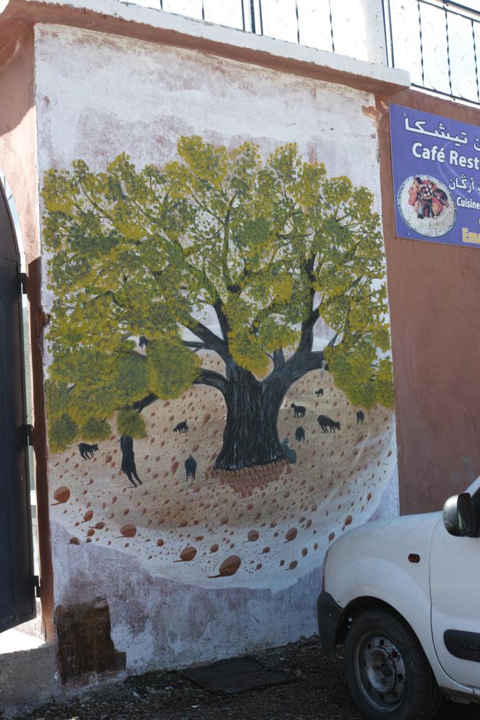 アルガンオイル壁画