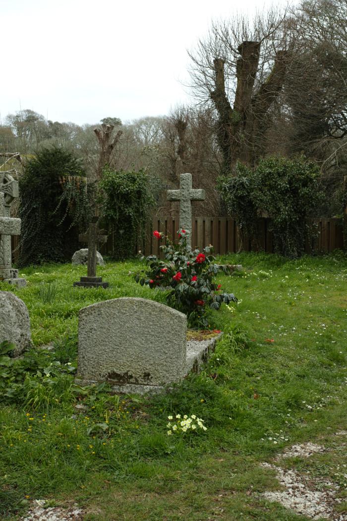教会の墓地