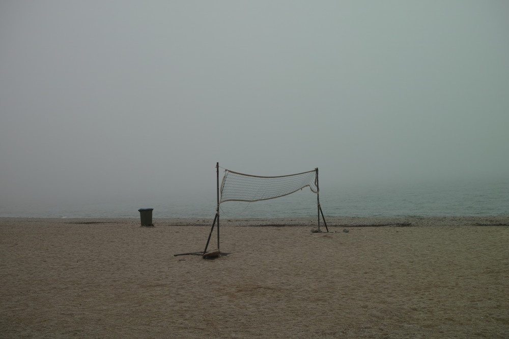 霧のビーチ
